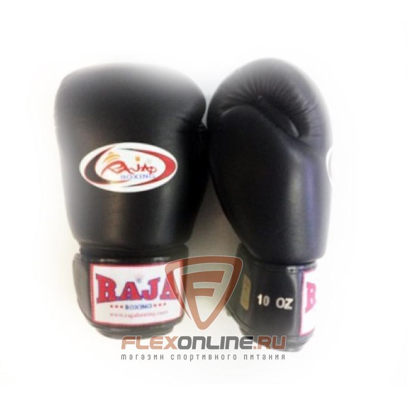 Боксерские перчатки Перчатки боксерские тренировочные на липучке 16 унций чёрные от Raja