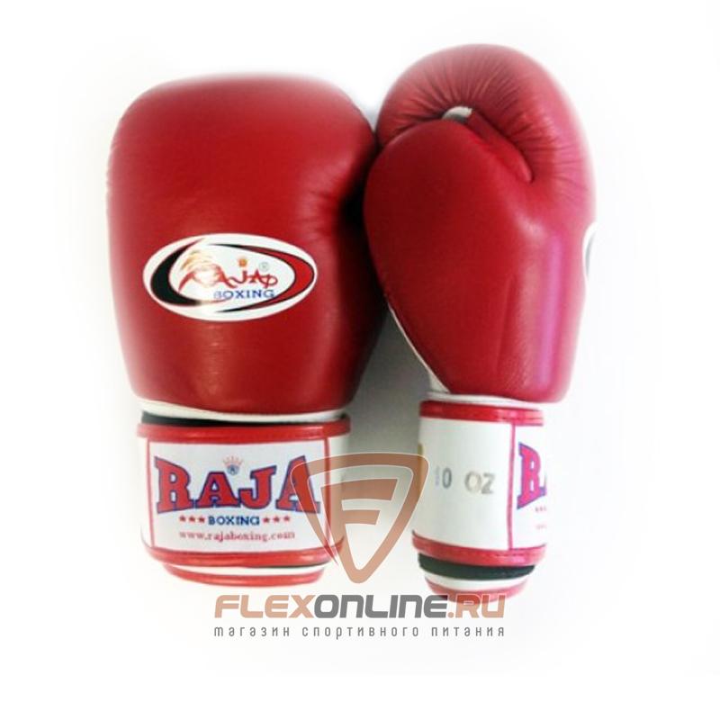 Боксерские перчатки Перчатки боксерские тренировочные на липучке 14 унций красно-белые от Raja