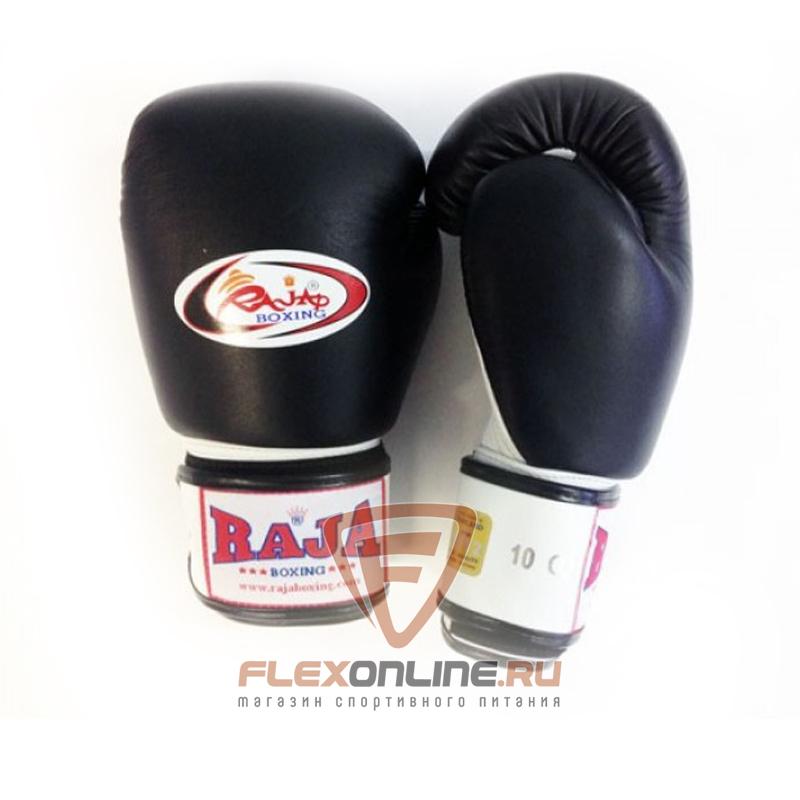 Боксерские перчатки Перчатки боксерские тренировочные на липучке 14 унций чёрно-белые от Raja