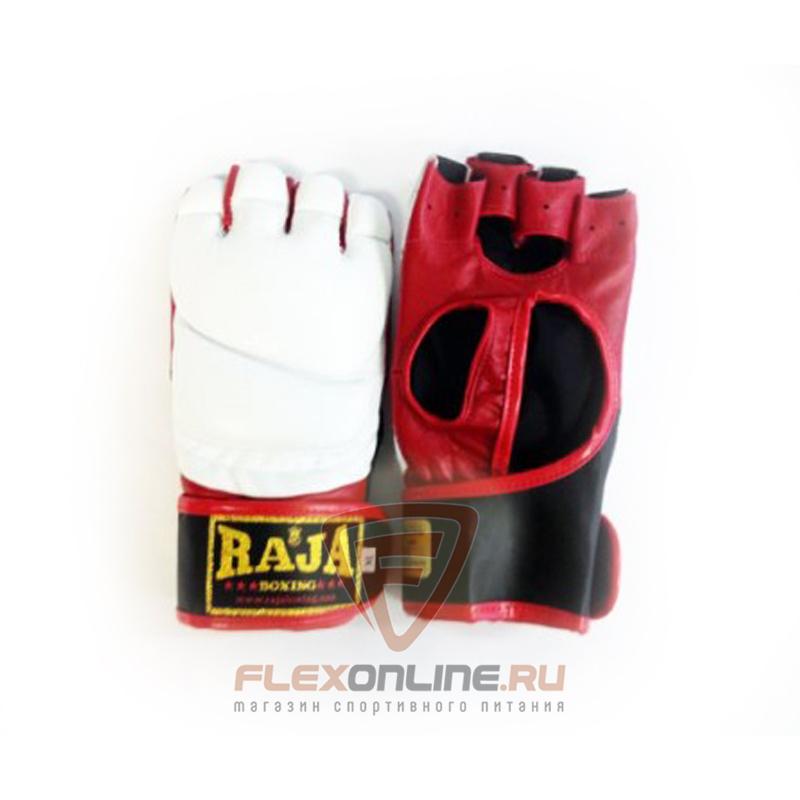 Перчатки MMA Перчатки MMA на липучке L белые от Raja
