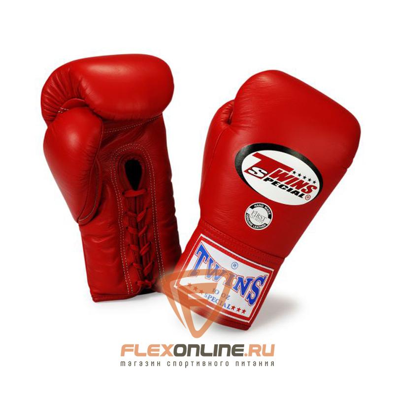 Боксерские перчатки Боксерские перчатки соревновательные на шнурках 10 унций красные от Twins