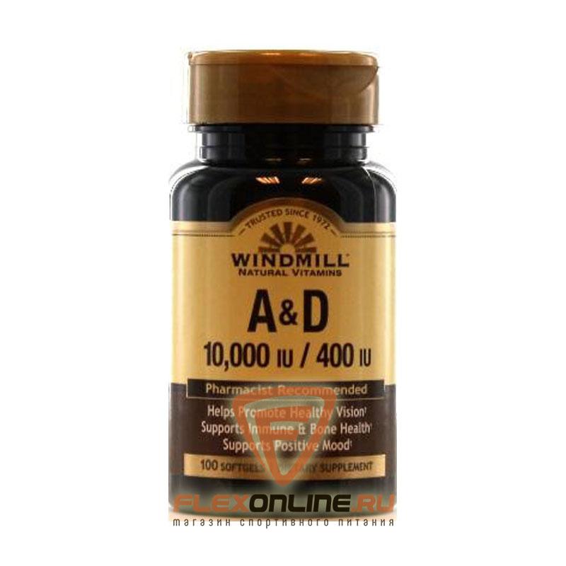 Витамины A&D 10000/400 softgel от Windmill