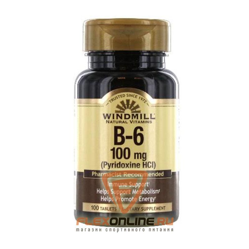 Витамины B-6, 100 mg от Windmill