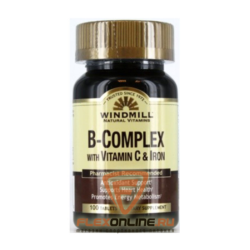 Витамины B-Complex with Vitamin C & Iron от Windmill