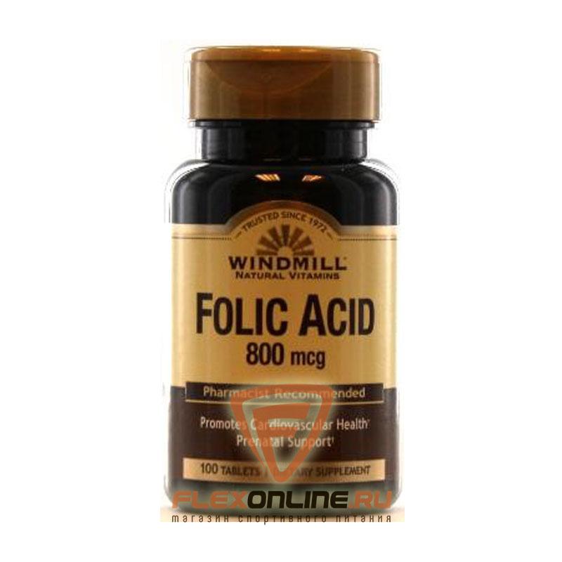 Витамины Folic Acid, 800mcg от Windmill