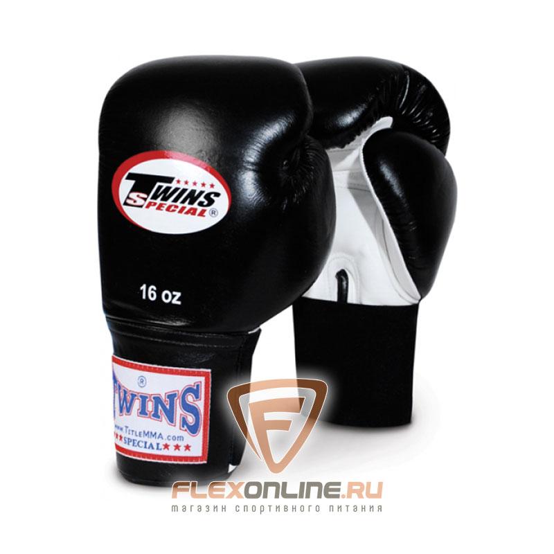 Боксерские перчатки Перчатки боксерские тренировочные 16 унций бело-чёрные от Twins