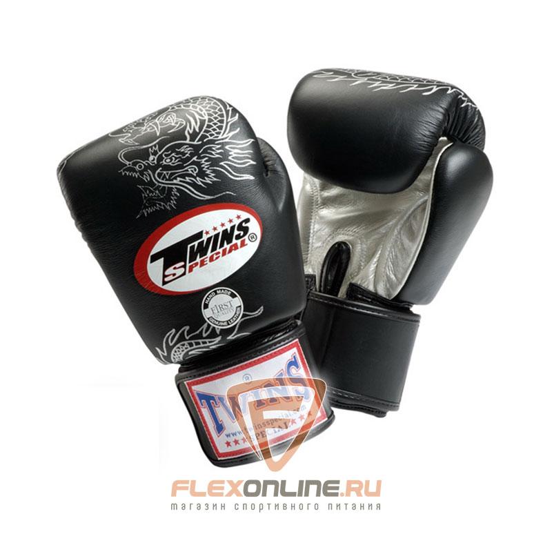 Боксерские перчатки Перчатки боксерские тренировочные на липучке 10 унций чёрные от Twins