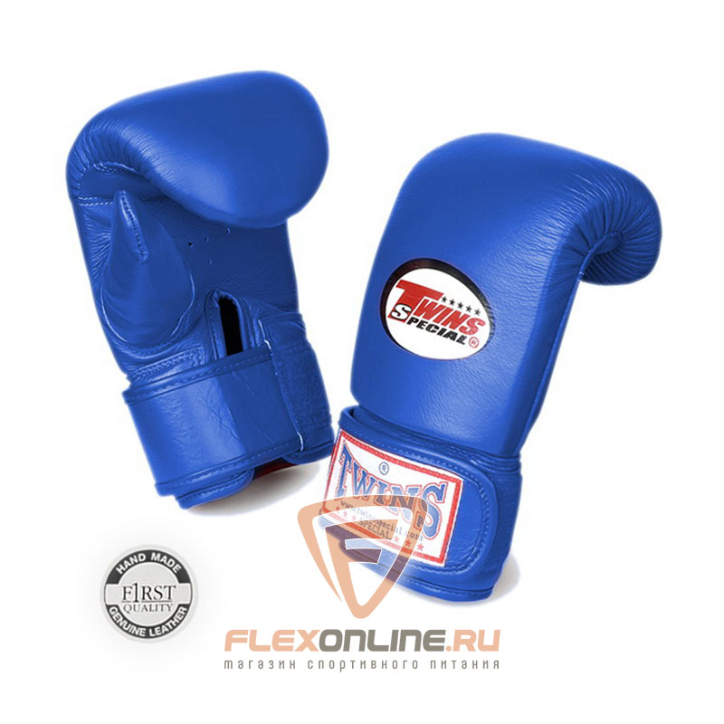 Cнарядные перчатки Перчатки снарядные тренировочные на липучке  M синие от Twins