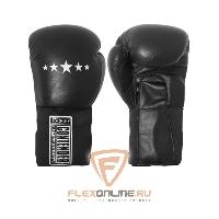 Боксерские перчатки Перчатки боксерские тренировочные на липучке 12 унций чёрные от Contender