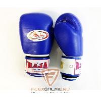 Боксерские перчатки Перчатки боксерские тренировочные на липучке 8 унций сине-белые от Raja