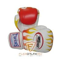 Боксерские перчатки Перчатки боксерские тренировочные на липучке 10 унций белые от Twins