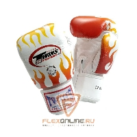 Боксерские перчатки Перчатки боксерские тренировочные на липучке 12 унций белые от Twins