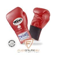 Боксерские перчатки Перчатки боксерские тренировочные на резинке 16 унций красные от Twins