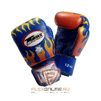 Боксерские перчатки Перчатки боксерские тренировочные на липучке 10 унций синие от Twins