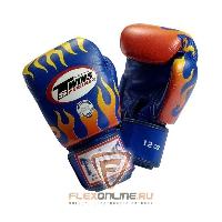 Боксерские перчатки Перчатки боксерские тренировочные на липучке 12 унций синие от Twins