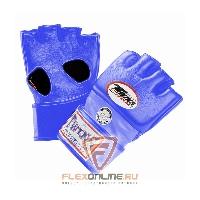 Перчатки MMA Перчатки ММА на липучке M синие от Twins