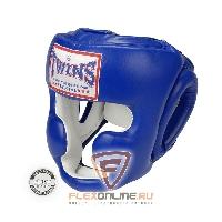 Шлемы Боксерский шлем тренировочный с креплением на резинке L синий от Twins