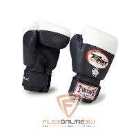 Боксерские перчатки Перчатки боксерские соревновательные  16 унций чёрные от Twins