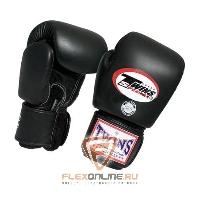 Боксерские перчатки Перчатки боксерские тренировочные 8 унций чёрные от Twins
