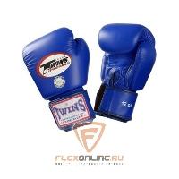 Боксерские перчатки Перчатки боксерские тренировочные 10 унций синие от Twins