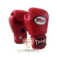 Боксерские перчатки Перчатки боксерские тренировочные 14 унций красные от Twins