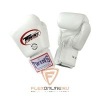 Боксерские перчатки Перчатки боксерские тренировочные 18 унций белые от Twins