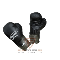 Боксерские перчатки Перчатки боксерские ABID 12 унций чёрные от Green Hill