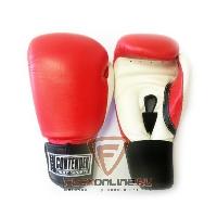 Боксерские перчатки Перчатки боксерские тренировочные на липучке 10 унций красно-белые от Contender