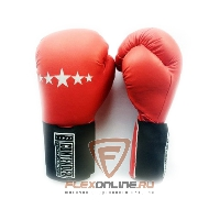 Боксерские перчатки Перчатки боксерские тренировочные на липучке 12 унций красные от Contender