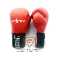 Боксерские перчатки Перчатки боксерские тренировочные на липучке 14 унций красные от Contender