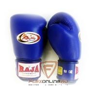 Боксерские перчатки Перчатки боксерские тренировочные на липучке 8 унций синие от Raja