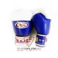 Боксерские перчатки Перчатки боксерские соревновательные на липучке 8 унций сине-белые от Raja