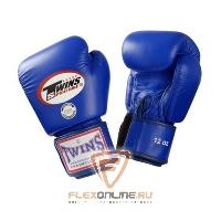 Боксерские перчатки Перчатки боксерские тренировочные 18 унций синие от Twins
