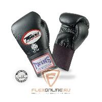 Боксерские перчатки Перчатки боксерские тренировочные на резинке 8 унций чёрные от Twins